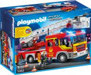 Playmobil Feuerwehr-Leiterfahrzeug mit Licht und Sound 5362
