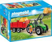 Playmobil Großer Traktor mit Anhänger 6130