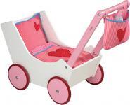 Haba Puppenwagen mit Tasche und Nuckelflasche 2660