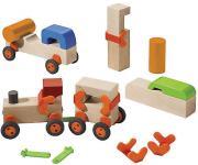 Haba Bausteine Technik entdecken Grundpackung Fahrzeuge 3435