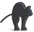 Holztiger Katze, schwarz 80052