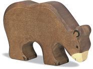 Holztiger Braunbär, fressend 80184