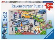 Ravensburger Mit Blaulicht unterwegs2, 2 X 12 Teile 075782