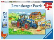Ravensburger Baustelle und Bauernhof, 2 X 12 Teile 076161