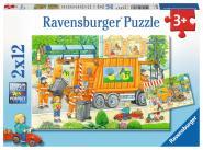 Ravensburger Müllabfuhr&Kehrmaschine, 2 X 12 Teile 076178