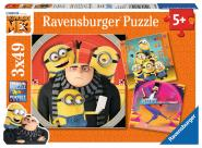 Ravensburger MIN:Abent.mit den Minions , 3 X 49 Teile 080168