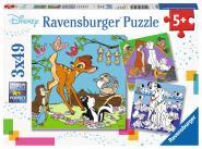 Ravensburger WD: Disney Freunde, 3 X 49 Teile 080434