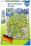 Ravensburger Meine Deutschlandkarte, 150 Teile XXL 100491