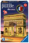 Ravensburger Triumphbogen Night Edition, 3D Puzzle-Bauwerke 125227