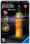 Ravensburger Big Ben bei Nacht, 3D Puzzle-Bauwerke 125883