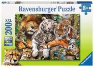 Ravensburger Schmusende Raubkatze, 200 Teile XXL 127214