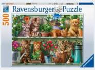Ravensburger Katzen im Regal           500p, 500 Teile 14824