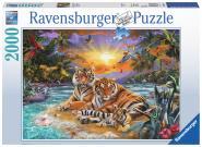 Ravensburger Tigerfam.im Sonnenunterg. , 2000 Teile 166244