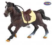 Papo Braunes Pferd mit Sattel 51057