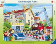Ravensburger Die Feuerwehr rückt aus, 30-48 T. Rahmenpuzzles 063932