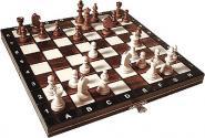 Wegiel Schach Set Magnetic Buche natur/rotbraun