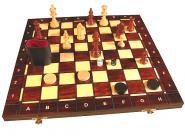 Wegiel Schach, Dame und Backgammon Medium, braun