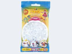 Hama Bügelperlen Hama Perlen Beutel 1000er transparent Weiß