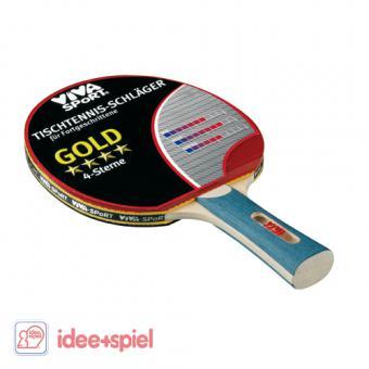 Viva Sport Tischtennis-Schläger Gold