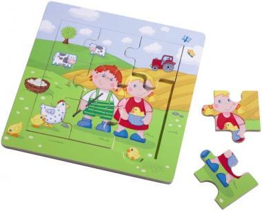 Haba Meine erste Spielwelt Bauernhof - Holzrahmen-Puzzle Paul & Marie  5579