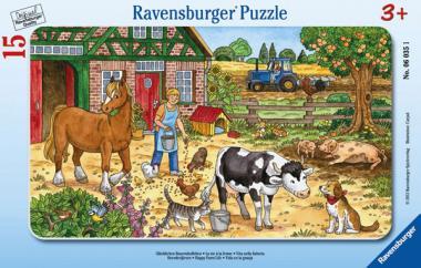 Ravensburger Glückliches Bauernhofleben, 15 T. Rahmenpuzzles 060351