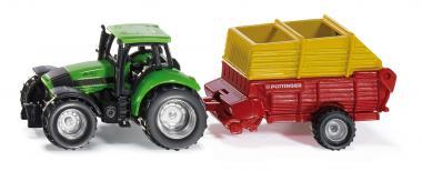 Siku Super Traktor mit Pöttinger Ladewagen 1676