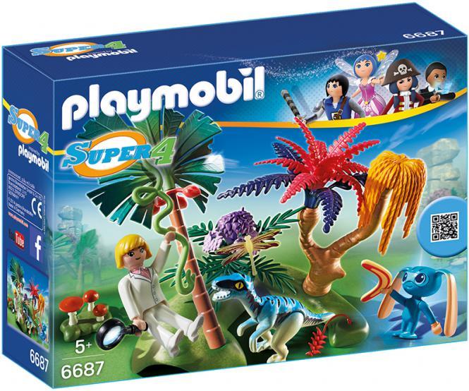 Playmobil Lost Island mit Alien und Raptor 6687