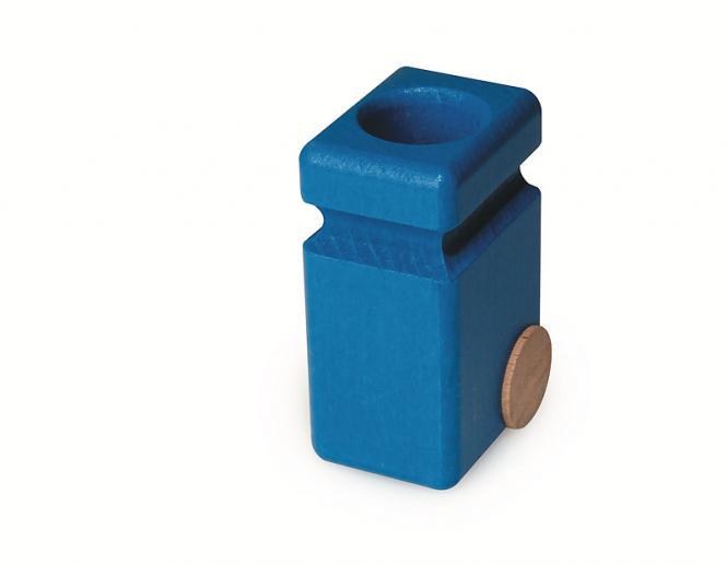 Fagus Mülltonne für Müllkipper, blau  20.83