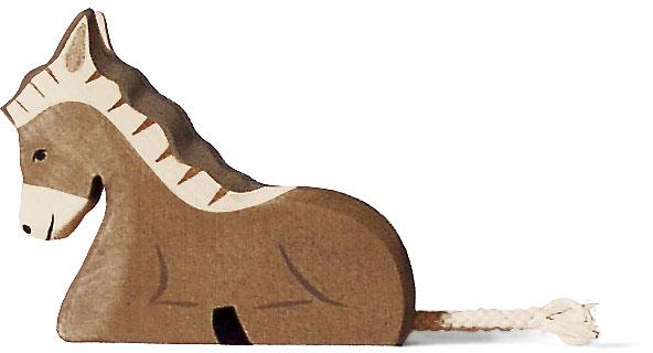 Holztiger Esel, liegend 80048