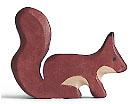 Holztiger Eichhörnchen, stehend, braun 80108