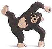 Holztiger Schimpanse, spielend 80170