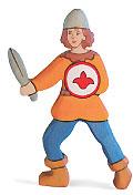 Holztiger Junge, oranges Hemd 80243