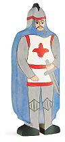 Holztiger Ritter mit blauem Mantel 80245