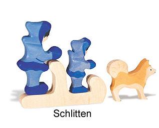 Holztiger Schlitten 80330