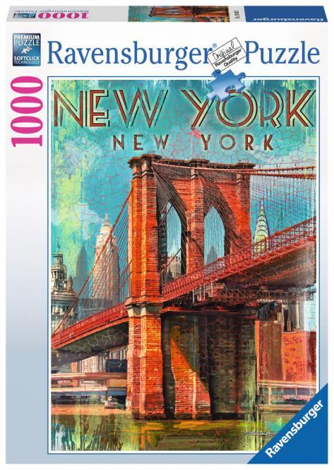 Ravensburger Retro New York, 1000 Teile 198351