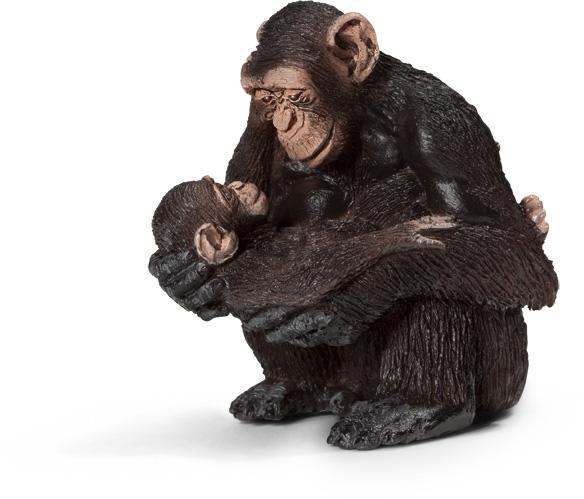 Schleich Wild Life Schimpansen-Weibchen mit Baby 14679