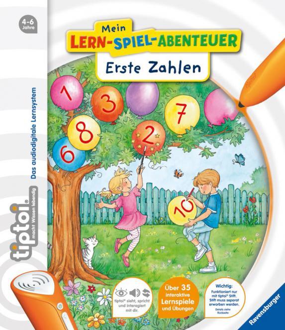 Ravensburger Lern-Spiel-Abent.:1.Zahlen, tiptoi Bücher 006205