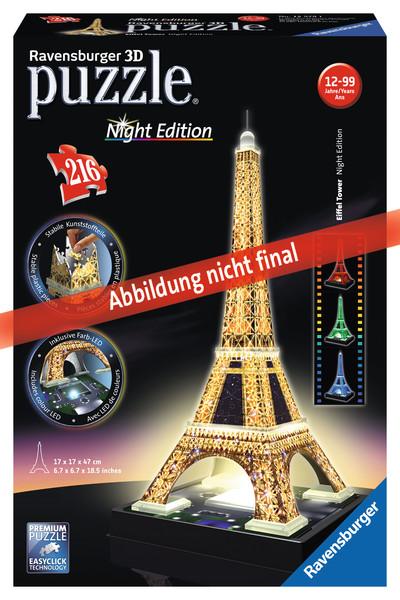 Ravensburger Eiffelturm bei Nacht, 3D Puzzle-Bauwerke 125791