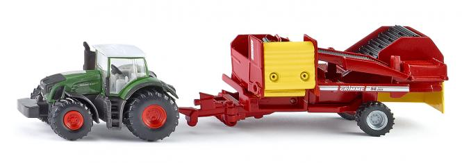 Siku  Farmer Traktor mit Kartoffelroder 1808