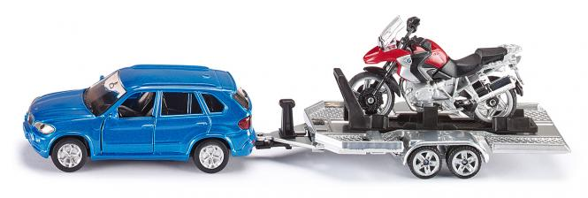 Siku  Super PKW mit Anhänger und Motorrad 2547