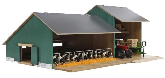 Kids Globe Farm Stall mit Schuppen 1:32 72x55x32cm