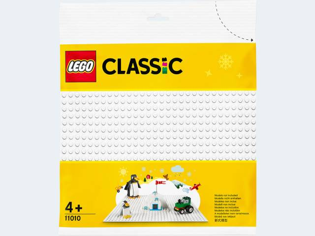 LEGO® Classic Weiße Bauplatte 11010
